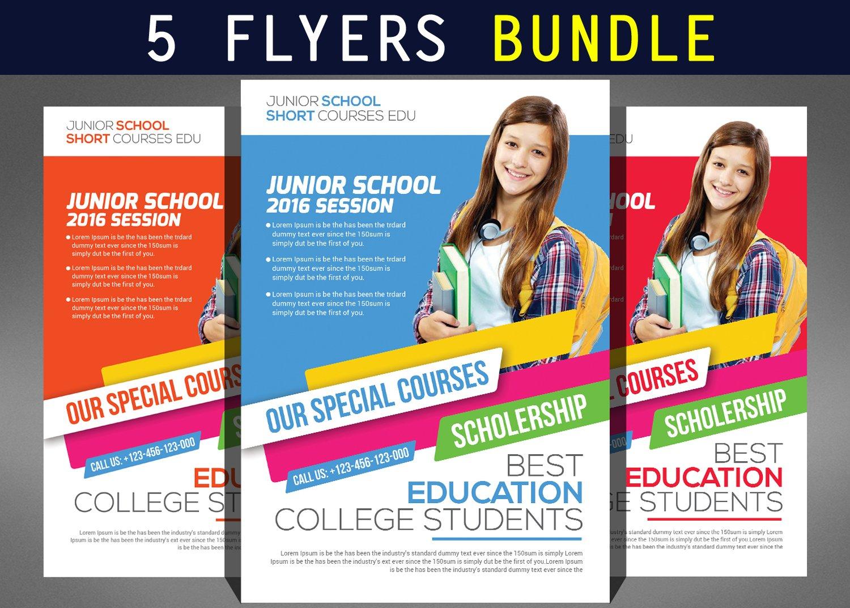 business school flyers bundle flyer templates on creative market