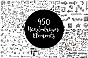 450 Hand-drawn elements