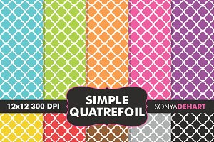 Simple Quatrefoil Digital Papers