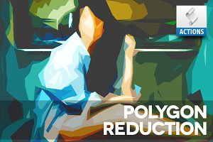 Polygon Reduction Photoshop Action