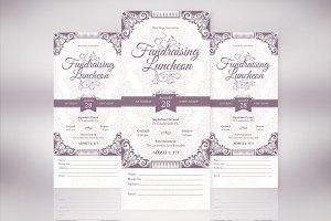 Vintage Luncheon Ticket Template