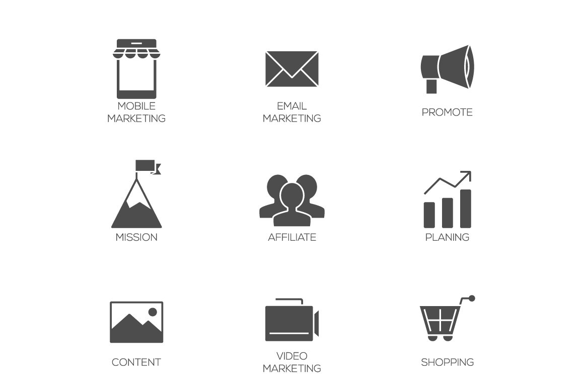 Business marketing icons ~ Icons ~ Creative Market