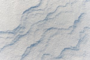 texture of the snow cover