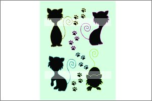 Silhouette Clipart Cats