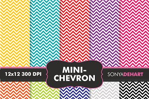 Mini Chevron Digital Paper Patterns