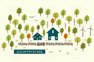Vector CountryScape Illustration