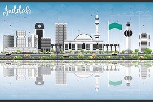 Jeddah Skyline with Gray Buildings