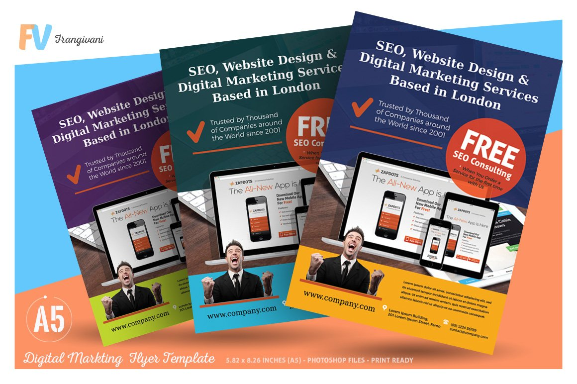 Digital marketing flyer template flyer templates for Marketing brochure templates free