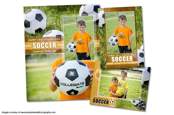 Memory Mate Templates | Soccer Memory Mate Template Pack A Flyer Templates Creative Market