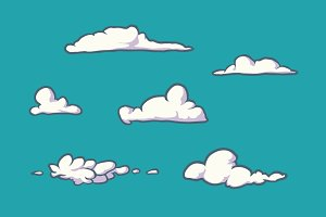 Clouds - decoration of your project