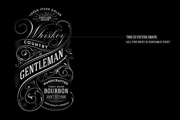 whiskey label logo logo templates creative market