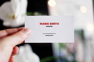 SALE! 5 business card mock ups