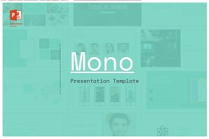 Mono PowerPoint Template - 25% off