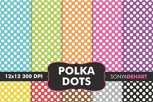 Polka Dot Digital Paper Patterns