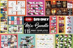 115 Print Templates Big Bundle