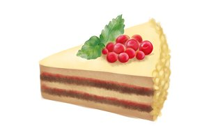 Dessert sweet cake digital art