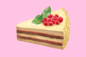 Dessert sweet cake digital art