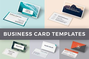 5 Business Card Templates - BUNDLE