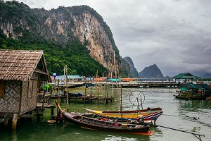 The Koh Panyi Muslim fishing village