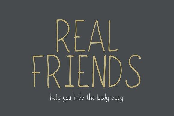 real friends script fonts creative market