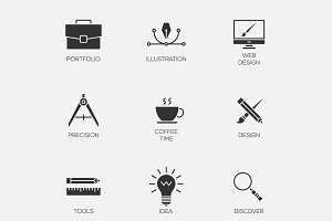 Creative design icons