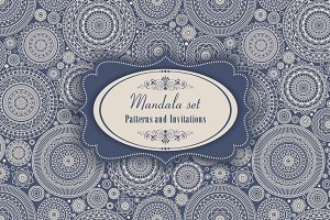 Mandala Set. Pattern and Invitation.