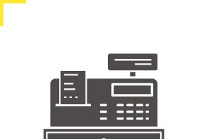 Store cash register icon. Vector