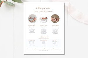 Newborn Pricing Template