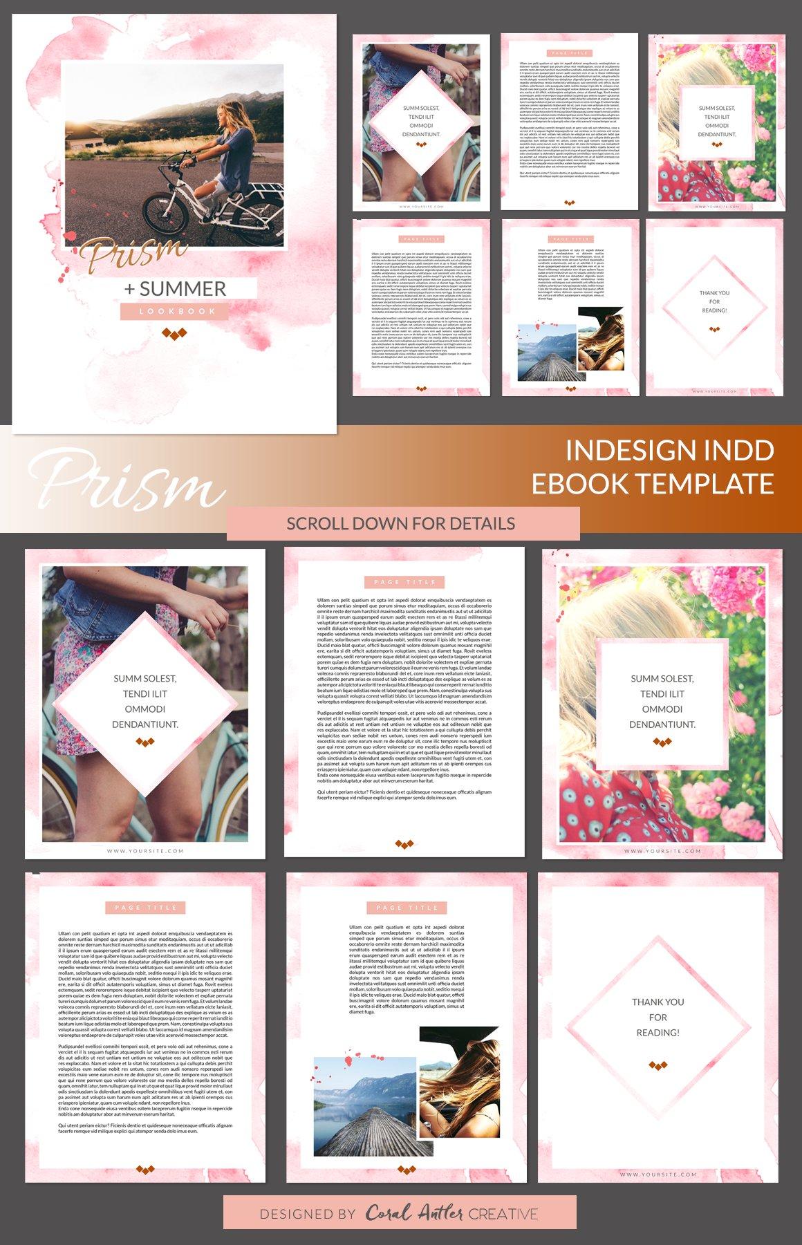 free ebook templates - prism indesign ebook template presentation templates