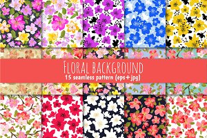 Floral background (15 patterns)