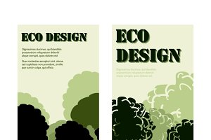 Eco design banners with forest