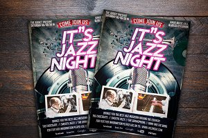 Jazz Night Music Flyer