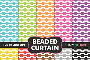Beaded Curtain Digital Papers