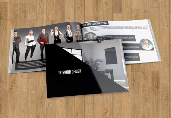 Interior Design Brochure TemplateV17 Templates Creative Market