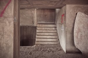 Inside of old abandoned building