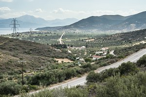 Roads, olive plantations