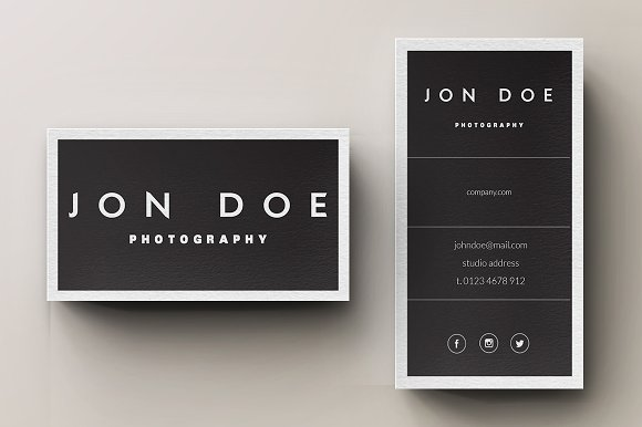 minimal photography business card business card templates creative market