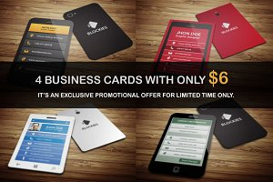 1+3 (Free) Business Cards Only at $6