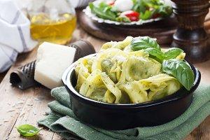 Stuffed Italian tortellini pasta