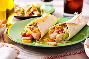 Two Chicken fajitas