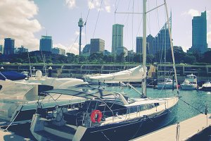 Yacht harbor in Sydney, Australia