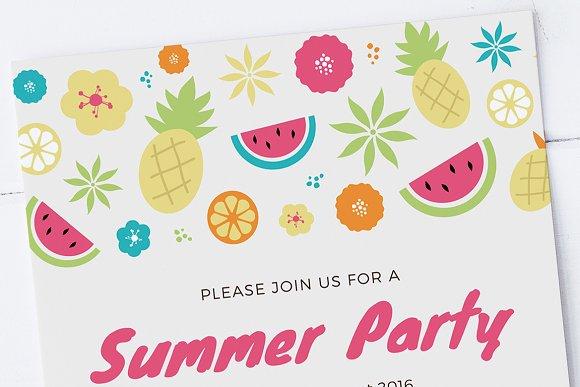 summer party invitation template invitation templates creative