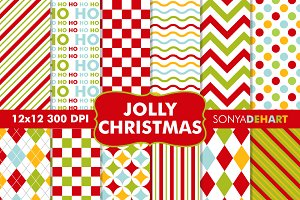 Jolly Christmas Digital Papers