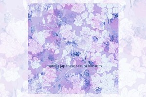 imprints japanese sakura blossom