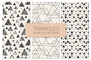 Triangles. Seamless Patterns Set 11