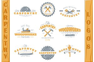 9 Colored Carpentry Logos Templates