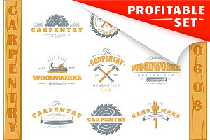 17 Colored Carpentry Logos Templates