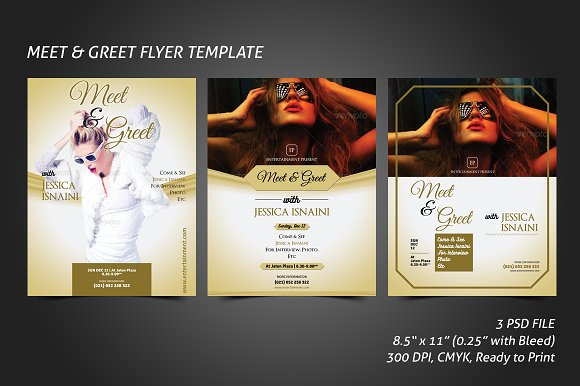 Meet Greet Flyer Template Flyer Templates Creative Market