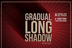 Gradual Long Shadow AI style