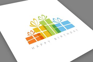 Minimalistic Happy Birthday Card